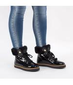Ботинки PTJ 3012 off black-taupe